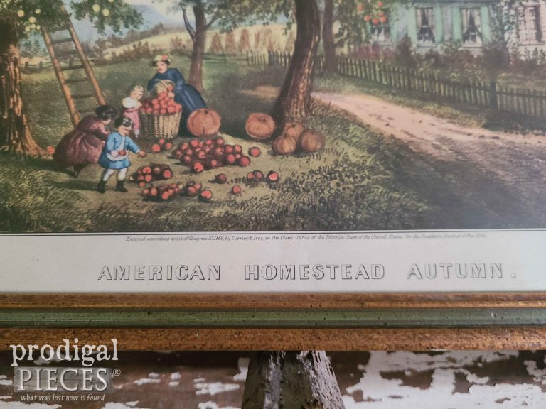 American Homestead Autumn by Currier & Ives | shop.prodigalpieces.com