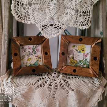 Set of 2 Mini Botanical Prints in Reclaimed Wood Frames available at Prodigal Pieces | shop.prodigalpieces.com #prodigalpieces #art #homedecor #shopping #farmhouse #reclaimed