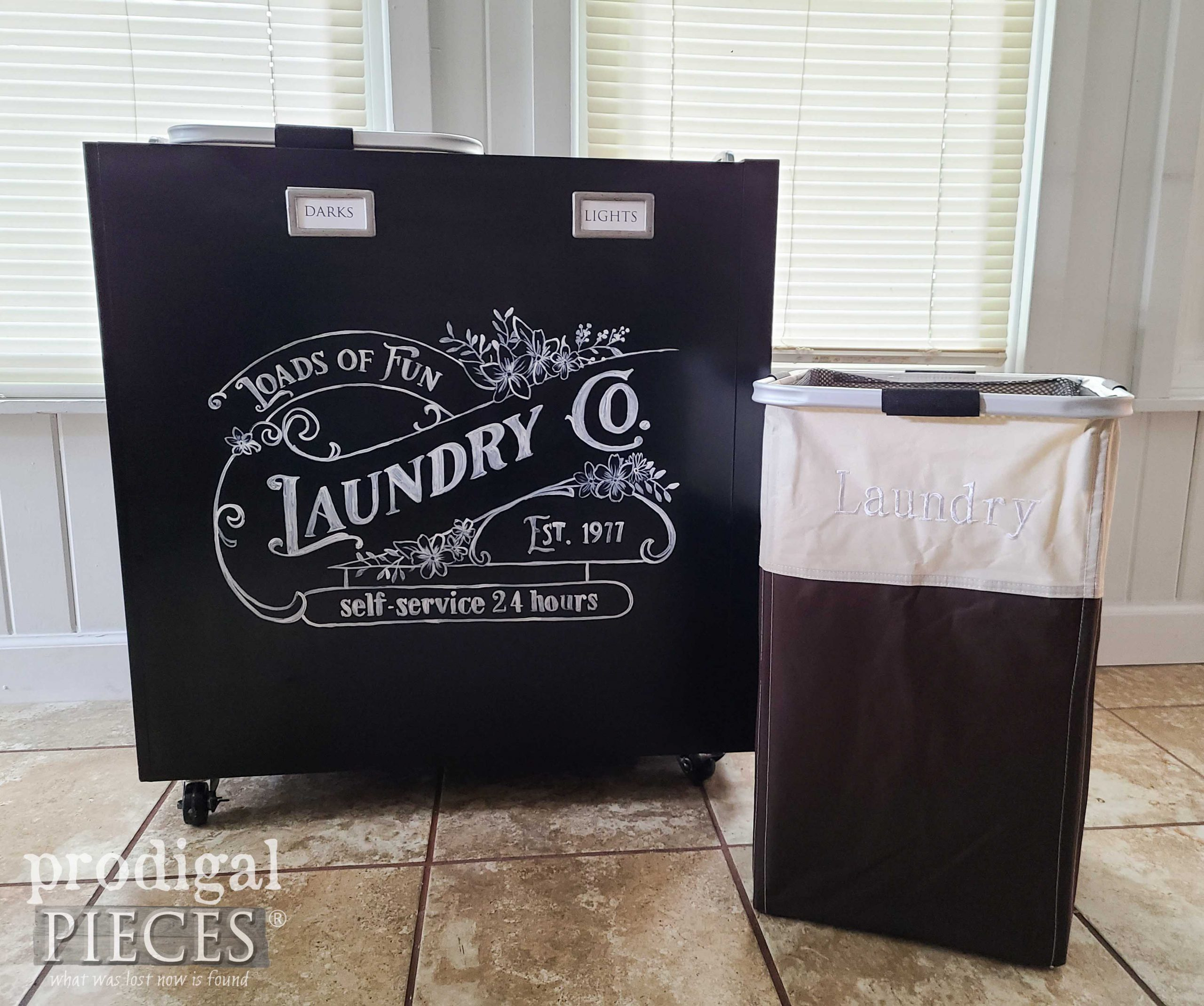 Portable Laundry Bin from Repurposed Filing Cabinet available at Prodigal Pieces | shop.prodigalpieces.com #prodigalpieces #laundry #home #shopping