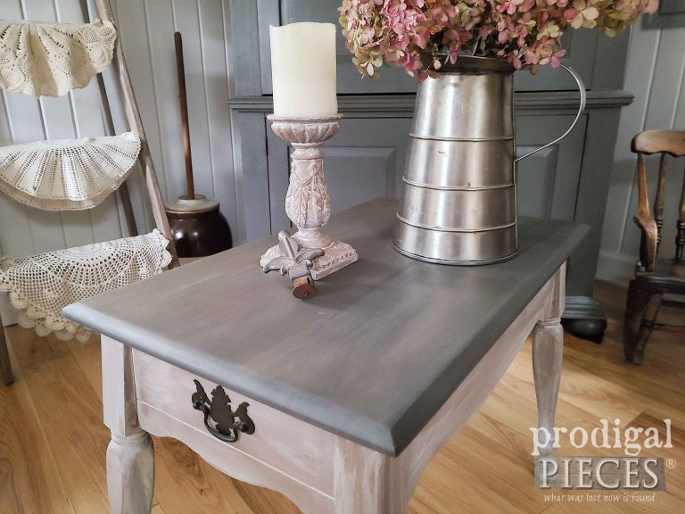 Stained Gray Table Top   shop.prodigalpieces.com