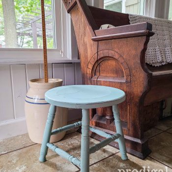 Farmhouse Milking Stool available at Prodigal Pieces   shop.prodigalpieces.com #prodigalpieces #shopping #diy #home