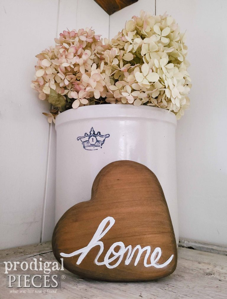 Farmhouse Wooden Heart with Home Typography by Larissa of Prodigal Pieces   shop.prodigalpieces.com #prodigalpieces #farmhouse #shopping #home